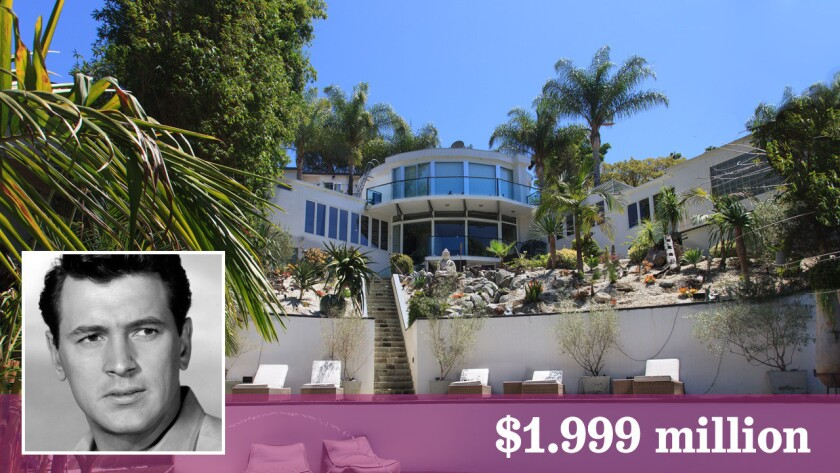 The distinctive Midcentury Modern house in Hollywood Hills has connections to actor Rock Hudson.