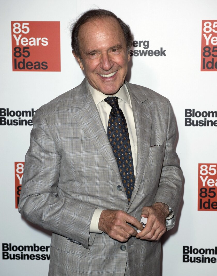 FILE - In this Dec. 4, 2014 file photo, Mort Zuckerman, owner and publisher of The New York Daily News, attends Bloomberg Businessweek's 85th Anniversary celebration at the American Museum of Natural History, in New York. Zuckerman sent a memo to employees on Thursday, Feb. 26, 2015 that said he was approached about a potential sale of the tabloid newspaper a few weeks ago. (Photo by Stephen Chernin/Invision/AP, File)