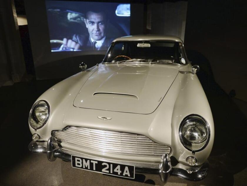 The Austin Martin DB5 at the Bond in Motion exhibit at the London FIlm Museum in London, Britain. EFE/EPA/Andy Rain/File