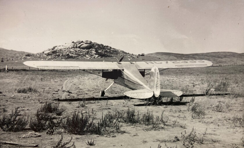Ralph Powers had an airplane and a dirt landing strip near where Valley Elementary School is now located.