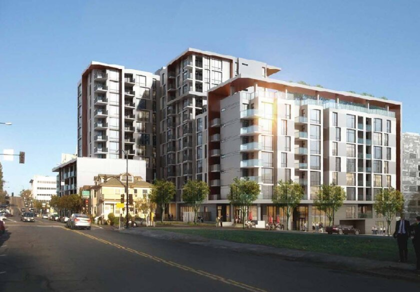 The proposed Atmosphere project in the Cortez area of downtown San Diego. Photo courtesy of Civic San Diego.