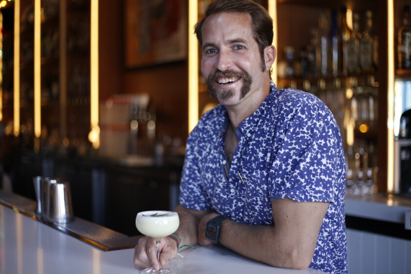 The Mr. Nice Guy from Madison on Park. Bar manager Danny Kushner makes the drink.