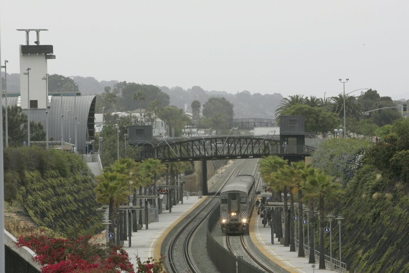 The pedestrian bridges connecting Cedros Avenue to Highway 101 in Solana Beach were built using redevelopment funds.