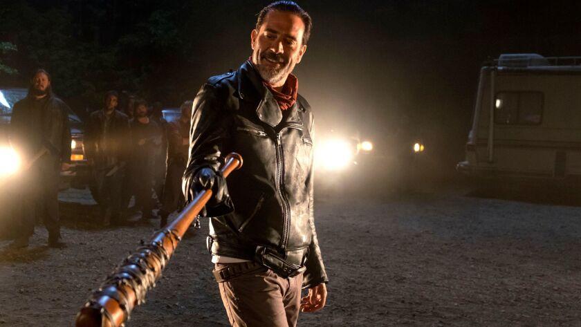 """Jeffrey Dean Morgan as Negan in episode 1 season 7 of """"The Walking Dead."""""""