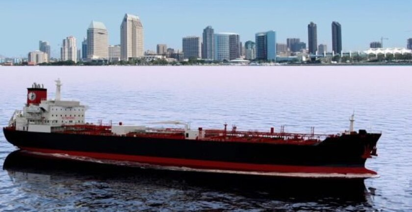 Artist's conception of the LNG tankers NASSCO will design and build for an affiliate of APT.