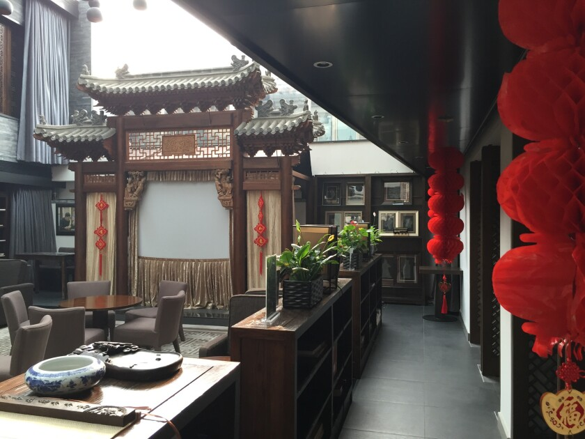 The center of the hotel is this intimate puppet theater, where all performances are held. It doubles
