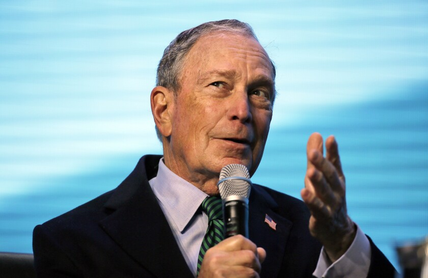 Democratic presidential candidate and former New York City Mayor Mike Bloomberg has scheduled a visit to San Diego Sunday.