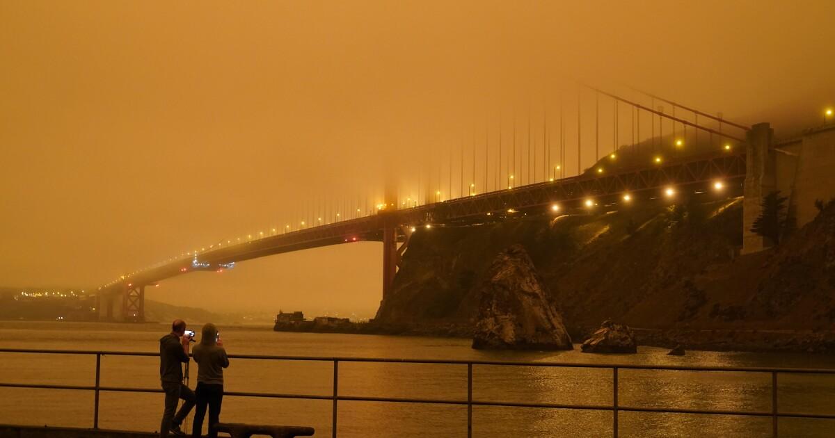 Deep orange skies, 'snowing' ash as fire smoke swamps Bay Area