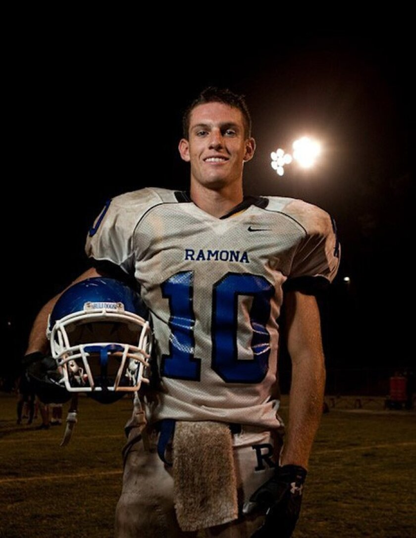 Ryan Morgan was a standout running back at Ramona High School.