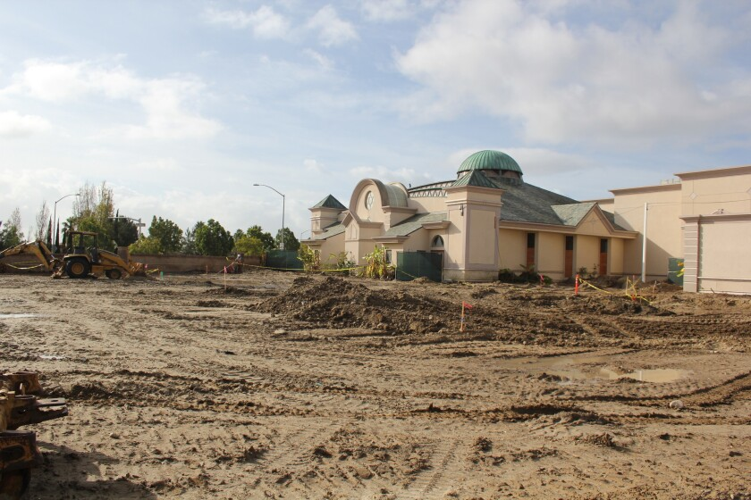 Construction is underway at Congregation Beth Am in Carmel Valley.