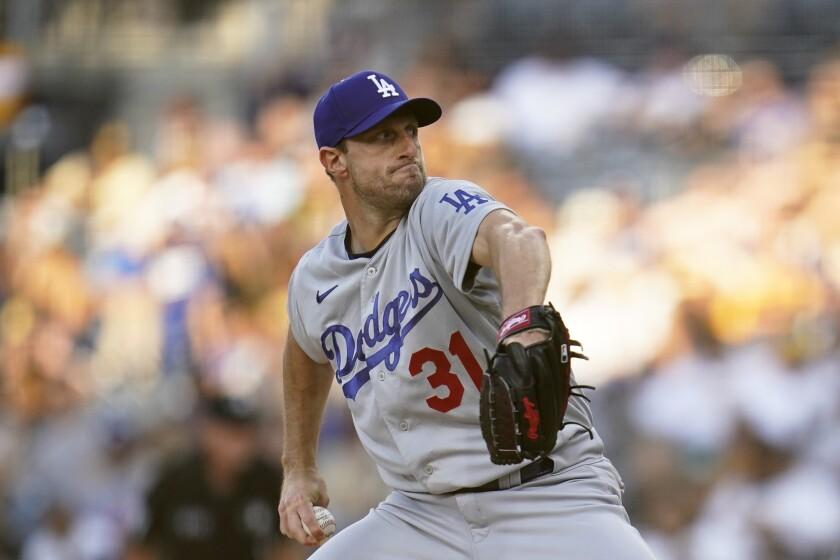 Los Angeles Dodgers starting pitcher Max Scherzer