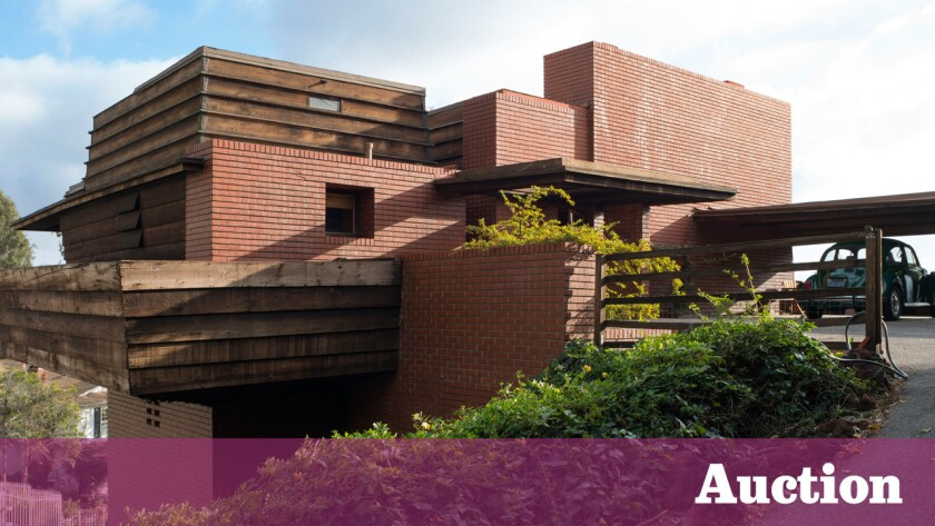 The Frank Lloyd Wright-designed Sturges House in Brentwood will go to auction on Feb. 21.