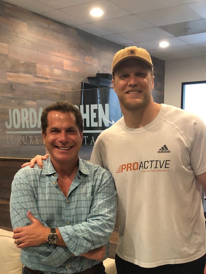 Jordan Cohen with L.A. Rams linebacker Clay Matthews