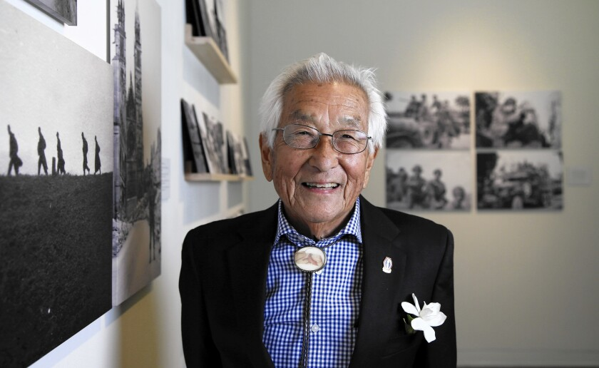 """For Susumu Ito, shown in July, taking a camera to document his time with the 442nd Regimental Combat Team was an act of rebellion. """"I wanted to take one because we weren't allowed to,"""" he once told The Times. """"I like to break the rules."""""""