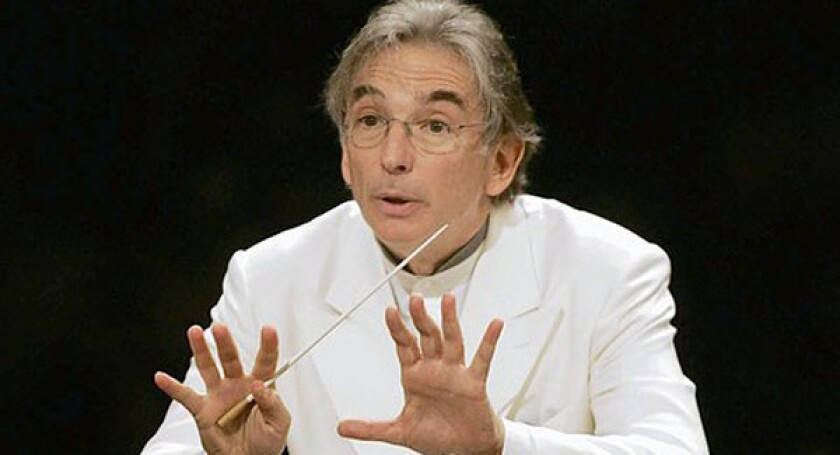Conductor Michael Tilson Thomas will be at the Hollywood Bowl in July.
