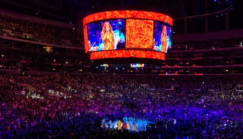 Beyoncé performs at Kobe Bryant's memorial at Staples Center