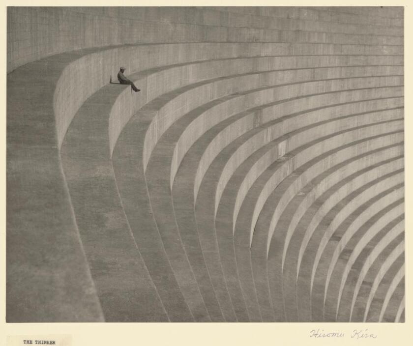 """The Thinker,"" about 1930, a photograph by Hiromu Kira"