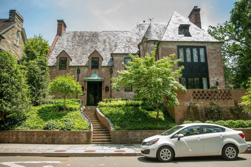 Real estate circles buzzed Wednesday, May 25, 2016, over reports that President Barack Obama and first lady Michelle Obama have decided to lease this nine-bedroom mansion in one of Washington's poshest neighborhoods when he leaves office in January 2017. With a sprawling terrace and a castle-like e