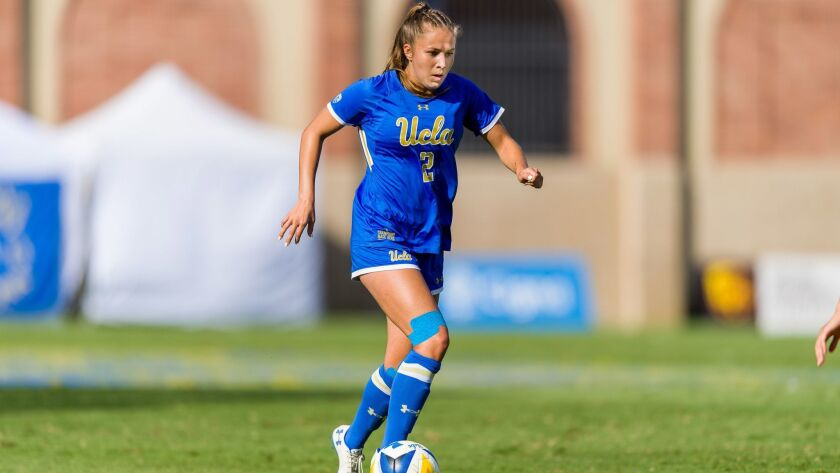 UCLA's Ashley Sanchez plays for UCLA womens soccer team in 2018.