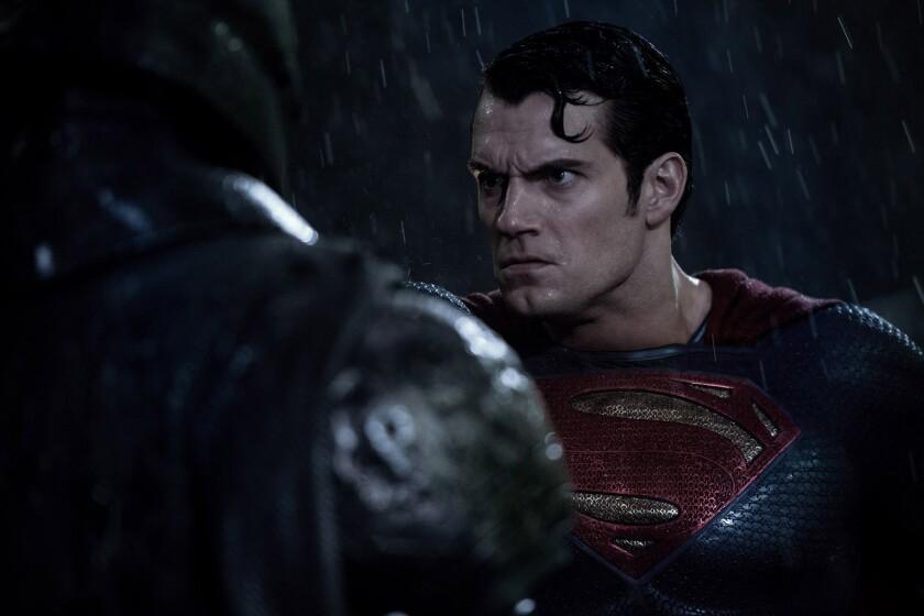 "Ben Affleck, left, as Batman and Henry Cavill as Superman in ""Batman v Superman: Dawn of Justice."""