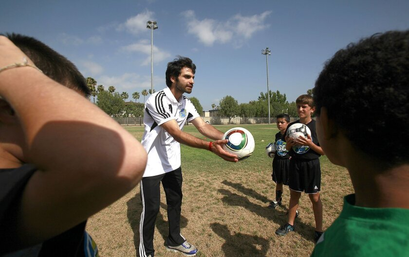 EL CAJON--YALLA's Peace Builders Soccer League practice and then tutoring session - located in the heart of the largest refugee resettlement city in the world. The PBSL brings child survivors of war and immigrant youth from the Middle East, Africa, Asia and Latin America to play together, become te