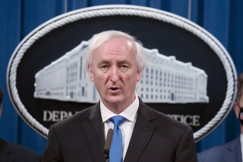Foto del 16 de septiembre de 2020 del subsecretario de Justicia Jeffrey Rosen