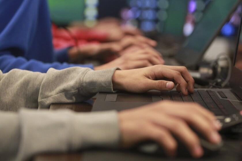 People at keyboards