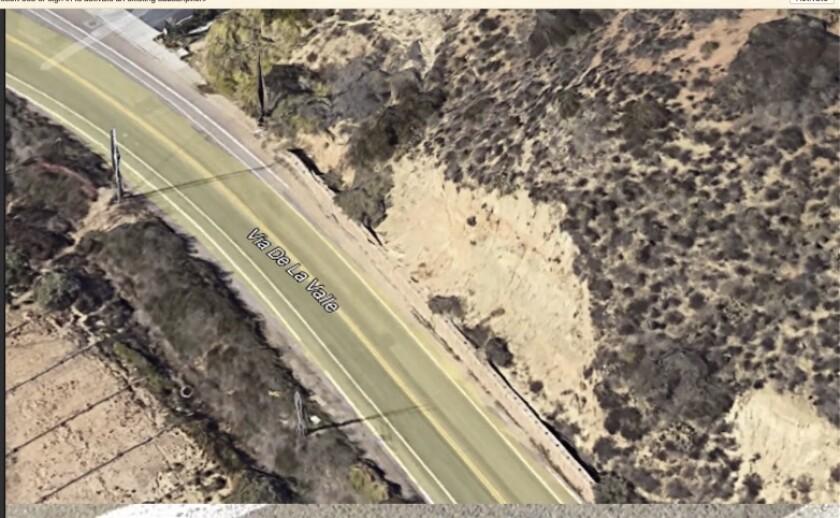A 35-home development is planned for this Via De La Valle slope.