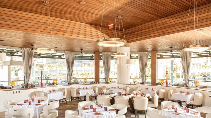 The main dining room at Giada at the Cromwell. Cromwell Hotel
