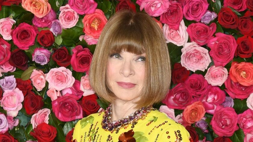 Anna Wintour at the Tony Awards in June.