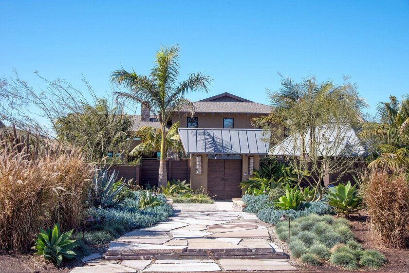 A water-wise garden fronts this stop on the two-day Mother's Day Weekend Art, Garden and Studio Tour in North County, on May 7 and 8.