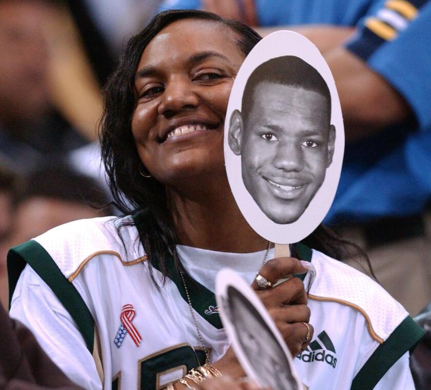 US basketball phenomenon LeBron James' mother Glor