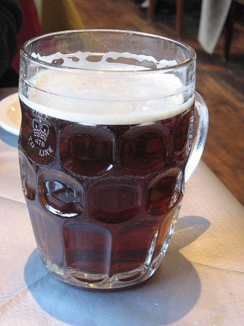 """""""Real ale,"""" like this pint, is pumped from a cask"""