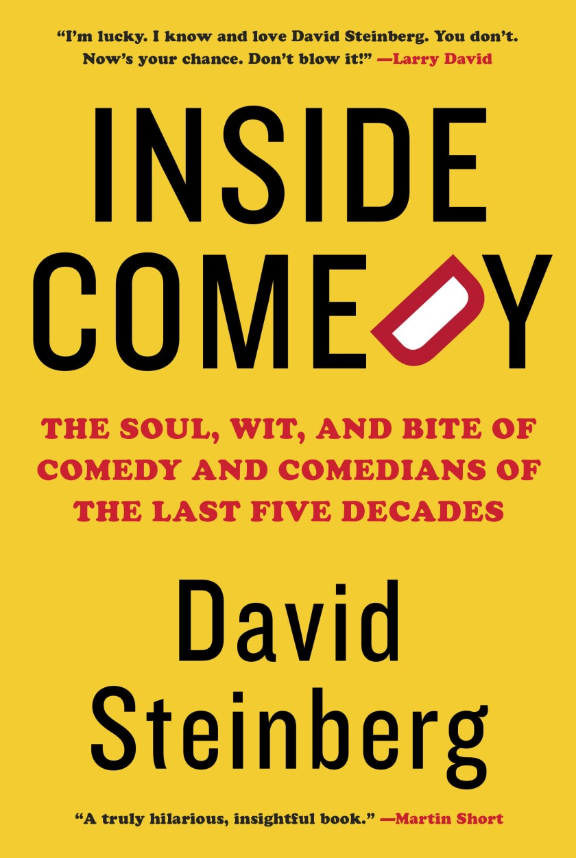 """This cover image released by Knopf shows """"Inside Comedy: The Soul, Wit, and Bite of Comedy and Comedians of the Last Five Decades"""" by David Steinberg. (Knopf via AP)"""