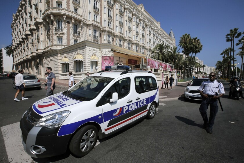 The Carlton hotel in Cannes, France, the scene of a daylight jewelry heist Sunday that netted $53 million in jewels.