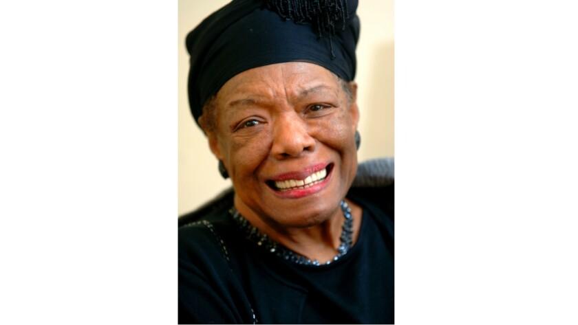 Maya Angelou in elegant accessories.