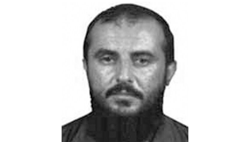 This photo provided by the FBI shows Jamal al-Badawi. An American military spokesman says a U.S. a
