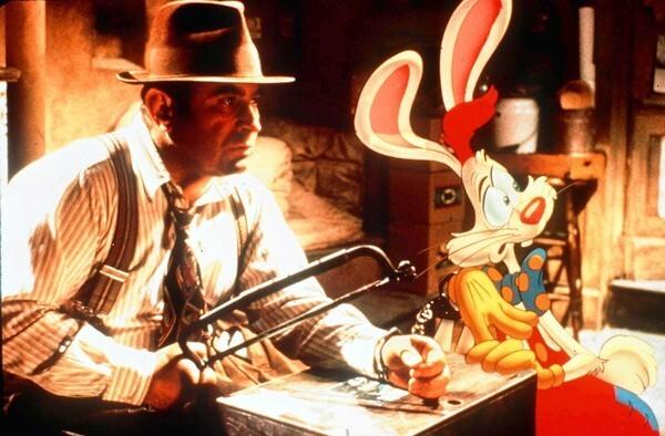 """Bob Hoskins stars as Eddie Valiant in """"Who Framed Roger Rabbit."""""""