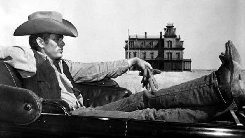 "James Dean, in his final film, director George Stevens' epic ""Giant"" on TCM."