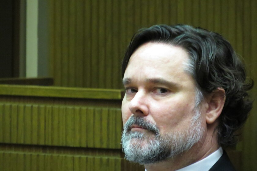 Jonathan Cohen appears in court during his arson trial.