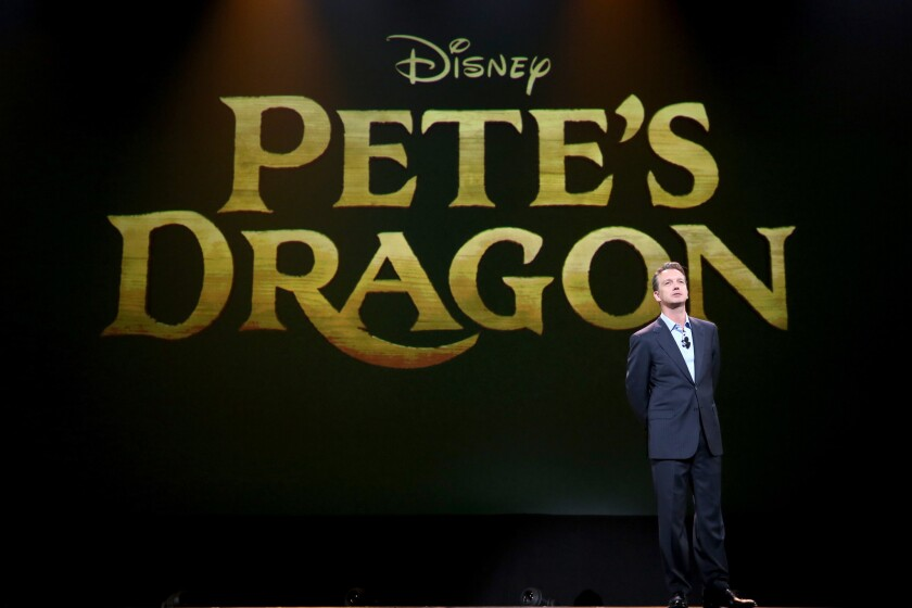 """Sean Bailey, president of Walt Disney Studios Motion Picture Production took part in the """"Worlds, Galaxies, and Universes: Live Action at The Walt Disney Studios"""" presentation at Disney's D23 Expo in Anaheim. """"Pete's Dragon"""" will be released in U.S. theaters on Aug. 12, 2016."""