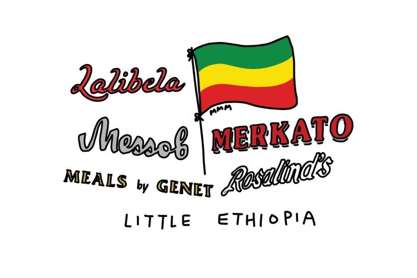 Illustration for the Little Ethiopia district of LA