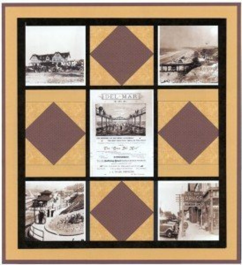 Fundraiser attendees can bid on a handmade quilt, which highlights the history of the city, during the event's silent auction. Courtesy photo