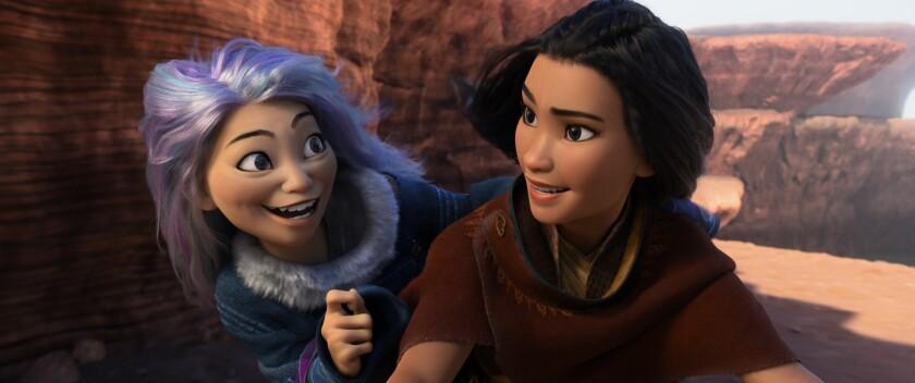 "Sisu and Raya in ""Raya and the Last Dragon."""
