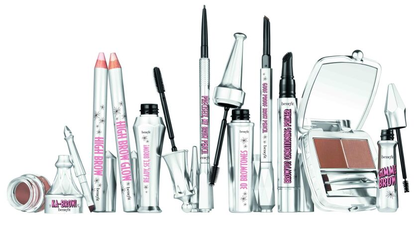 A look at Benefit Cosmetic's assortment of eyebrow products.
