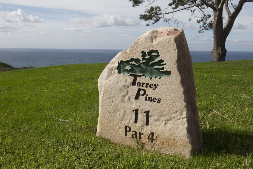 The 36-hole municipal public golf facility Torrey Pines Golf Course offers ocean views and is owend by the city of San Diego.