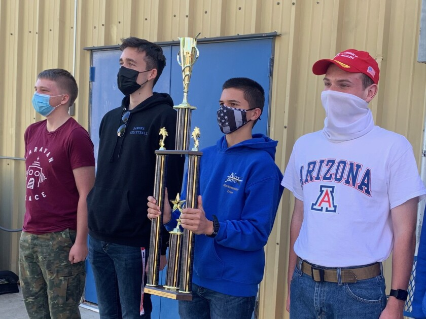 Ramona team members are, from left, Cadets Riley Ward, Jace Jerrell, Seth McQuiddy and Scott Wiggins
