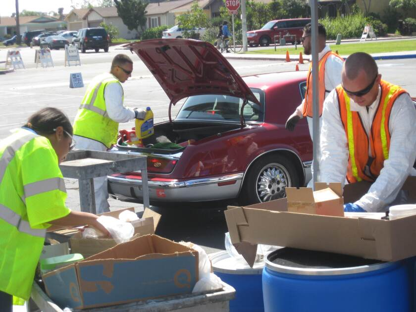 The recycling events are for city of San Diego residents only and no business waste will be accepted.