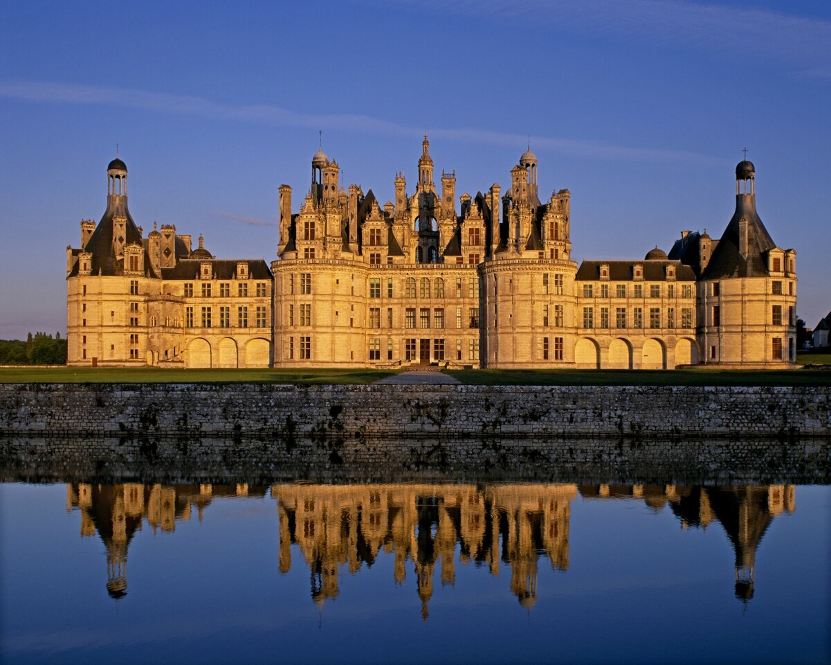 The château features an amazing roofscape.
