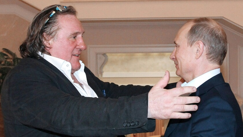 Gerard Depardieu and Vladimir Putin